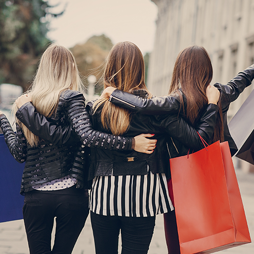 Women Shopping with Visa Gift Cards